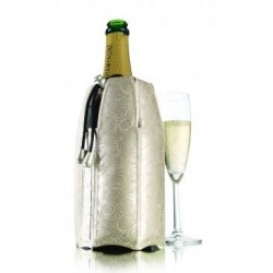 Rapid Ice Rafraîchisseur Champagne Platinium Vacuvin - Histoires d'Apéro