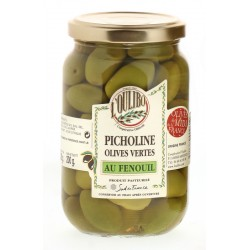 Olives Vertes Picholine au Fenouil L'Oulibo - HISTOIRES D'APERO